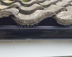 Our bird comb system to stop birds getting in under the tiles